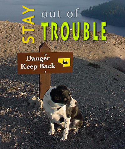 Sam stays out of trouble at Crater Lake